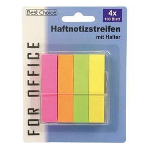 Haftnotizen 4 x 100 Blatt Neon