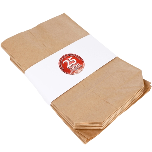 25 Adventskalendertüten aus Kraftpapier, Größe XL (17 x 26)