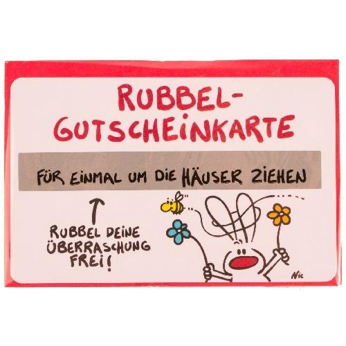 Gutschein Rubbel-Karte: Einmal um die Häuser ziehen