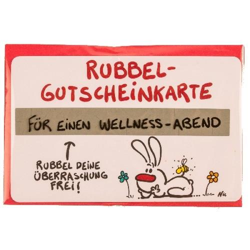 Gutschein Rubbel-Karte: Für einen Wellness Abend