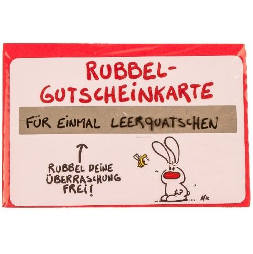 Gutschein Rubbel-Karte: Einmal Leerquatschen