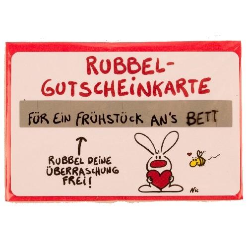 Gutschein Rubbel-Karte: Für ein Frühstück ans Bett