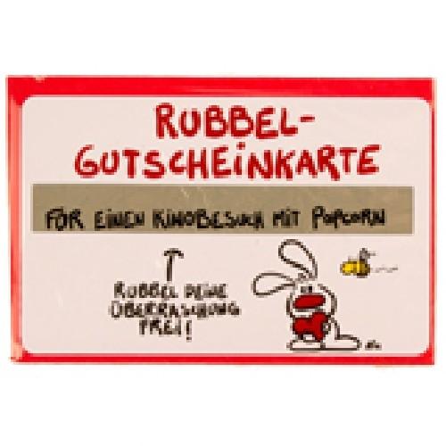 Gutschein Rubbel-Karte: Für einen Kinobesuch mit Popcorn