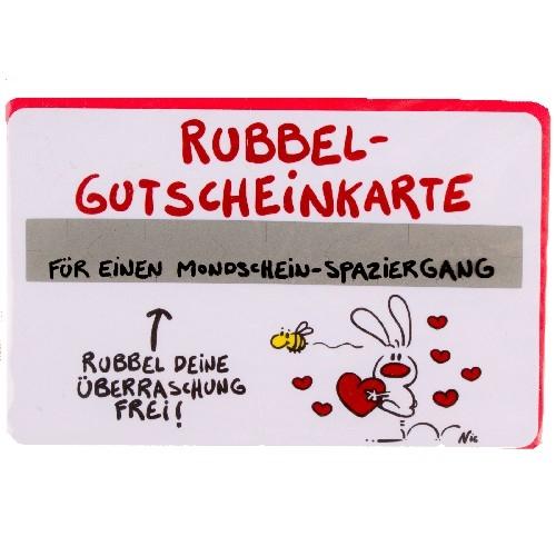 Gutschein Rubbel-Karte: Für einen Mondschein Spaziergang