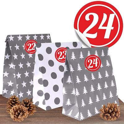 24 XL-Papiertüten Winterzeit