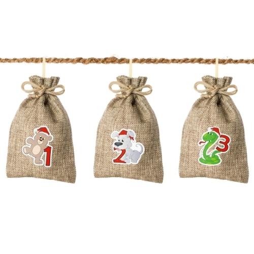 Jute-Weihnachtstiere<br><br>inkl. Kokosschnur
