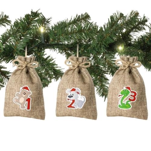Jute-Weihnachtstiere<br><br>inkl. XL-Tannengirlande